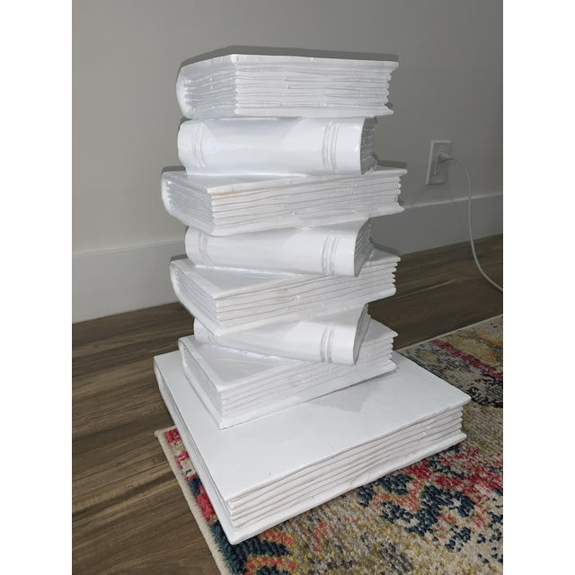 1980s Tromp l'Oeil Stack of Books Side Table For Sale - Image 5 of 10