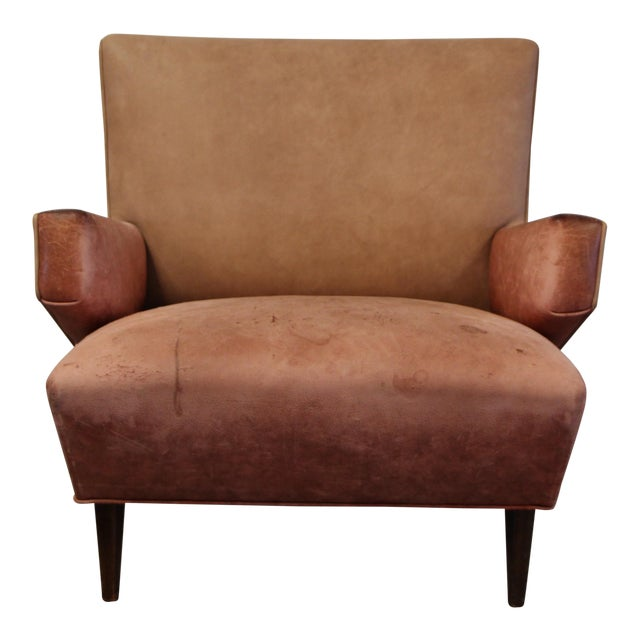 1950s Vintage Jens Risom for Knoll Custom Lounge Chair For Sale