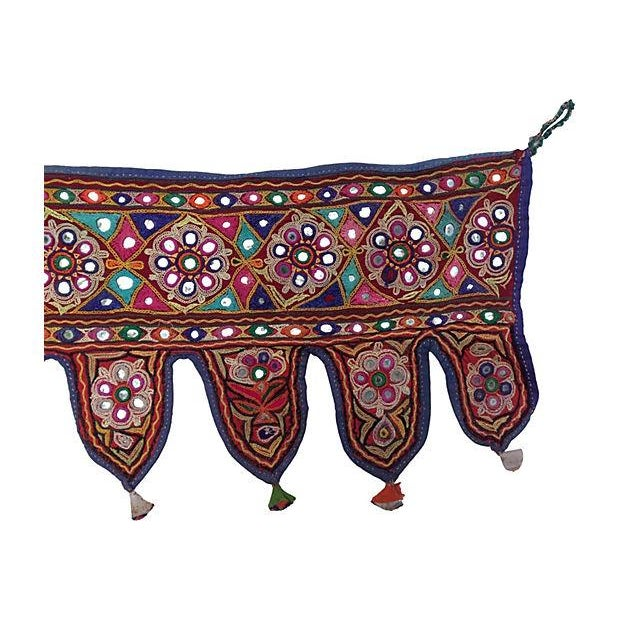 Indian Embroidered Mirrored Valance - Image 5 of 5