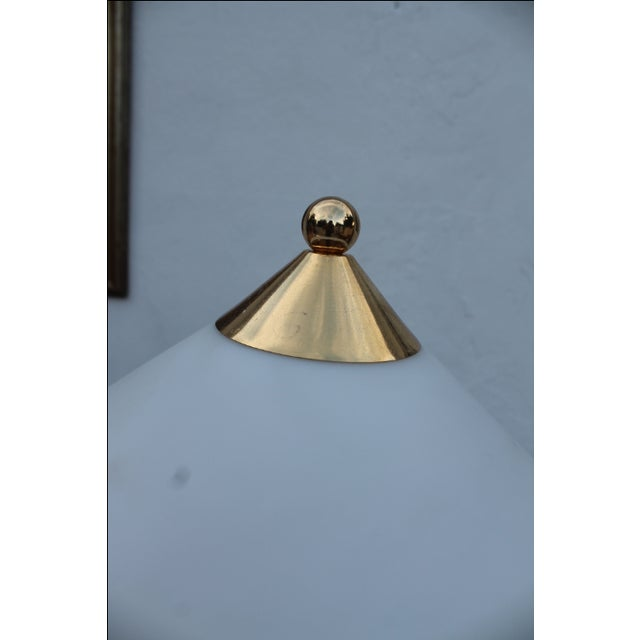 Contemporary Blue and Brass Lacquered Table Lamp - Image 5 of 11