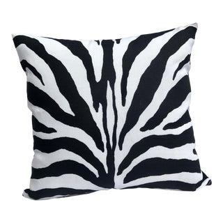 """Zebra Print Outdoor-Indoor 12"""" Toss Pillow, Custom Made For Sale"""