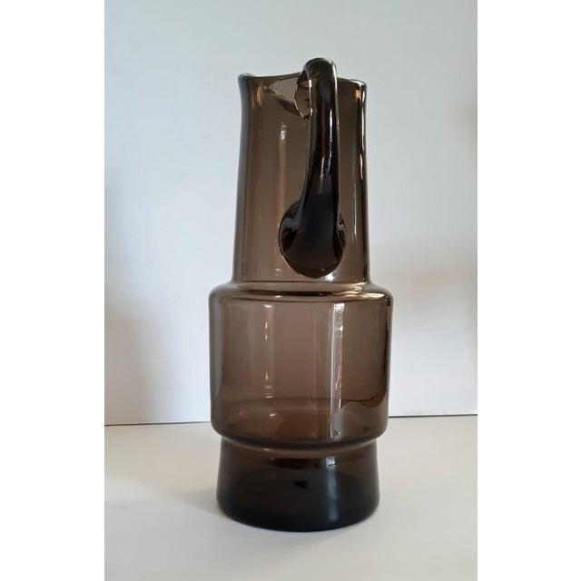 Mid-Century Modern Mid-Century Scandinavian Blown Glass Pitcher For Sale - Image 3 of 6