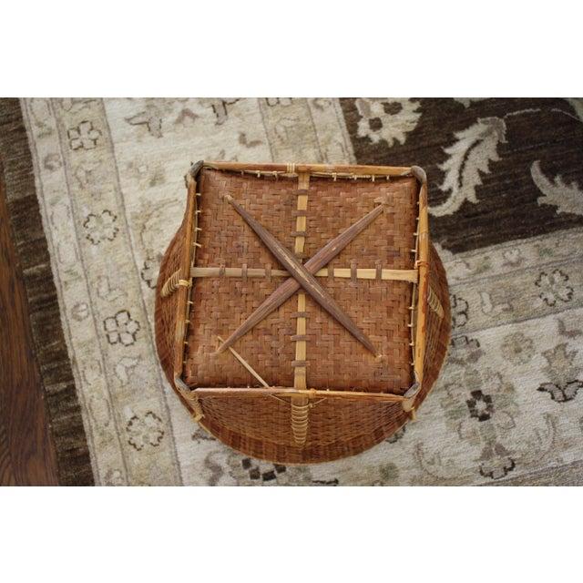 Large Vintage Woven Basket Planter For Sale - Image 9 of 13