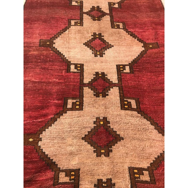 Textile 1980s Handmade Turkish Rug - 4′5″ × 12′4″ For Sale - Image 7 of 7