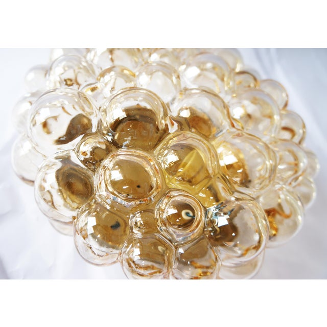 Helena Tynell 1960s Amber Bubble Flush Mount Sconce by Helena Tynell for Limburg For Sale - Image 4 of 6