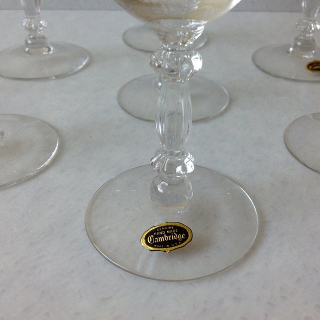 Cambridge Optic Crystal Cocktail Stemware For Sale - Image 4 of 11
