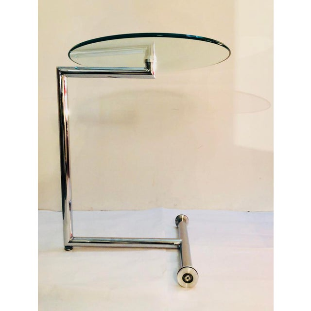 Contemporary Morn Chrome Finished Stainless Steel Base Side Table For Sale - Image 3 of 5