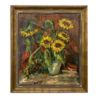 Framed Oil Painting on Canvas by Rene Morren (1900-1971) For Sale