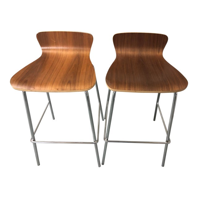 47ac8dcd20e Crate   Barrel Felix Bar Stools - A Pair For Sale