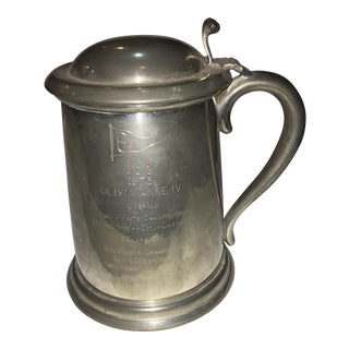 1973 Yacht Racing Pewter Trophy Stein For Sale