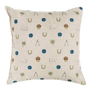 Good Luck Embroidered Pillow