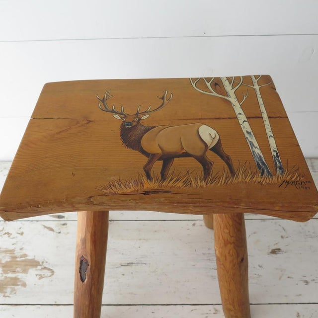 Split Log Side Table For Sale In Houston - Image 6 of 9