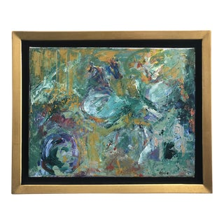 Framed Abstract Acrylic Painting For Sale