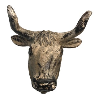 French Flea Market-style Ceramic Steer Cow Head