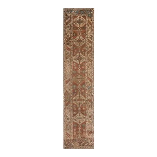 "Antique Persian Serapi Rug 3'2"" X 13'10"" For Sale"