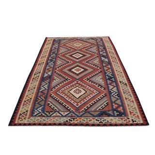Antique Persian Flatweave Gashgai Kilim - 5′5″ × 9′1″ For Sale