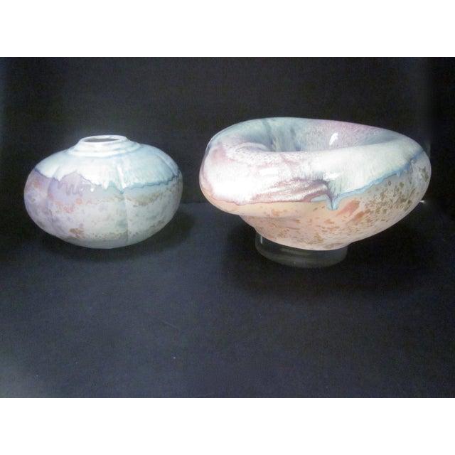 Lucite Sculpture Ceramic Raku Pottery Tony Evans - Image 3 of 11