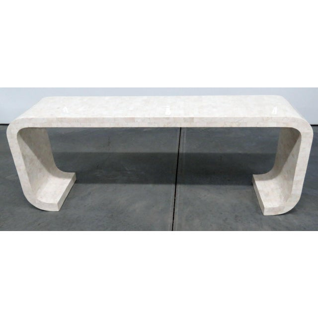 Mid-Century Modern Tessellated Console Table For Sale - Image 10 of 10