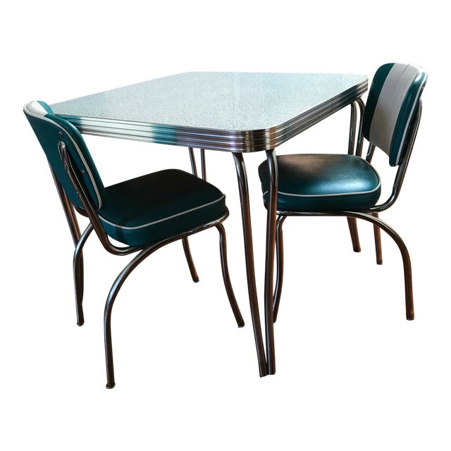 green black formica kitchen table chairs - Formica Kitchen Table