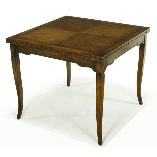 Old Colony Furniture Walnut Flip Top Games Table - Image 6 of 10