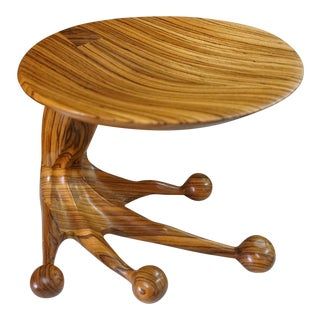 Zebrawood Stool by Tim Mackaness For Sale
