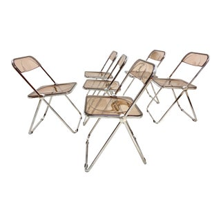 1970s Plia Folding Chairs by Giancarlo Piretti for Anonima Castelli - Set of 6 For Sale