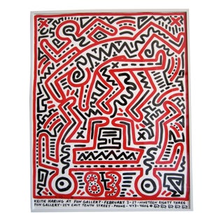 Signed Keith Haring Fun Exhibition Poster, 1983