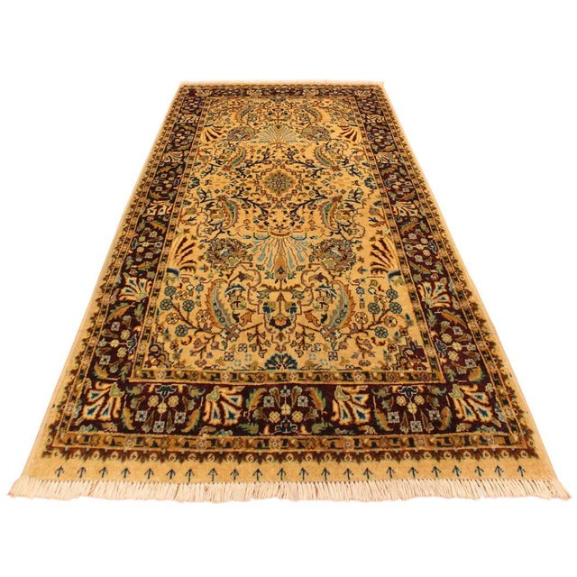 Contemporary Semi Antique Istanbul Joellen Tan/Red Turkish Hand-Knotted Rug -3'1 X 5'4 For Sale - Image 3 of 8