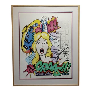 Crash John Matos -Dear Prudence - Pop Art -1989 Serigraph-Pencil Signed For Sale