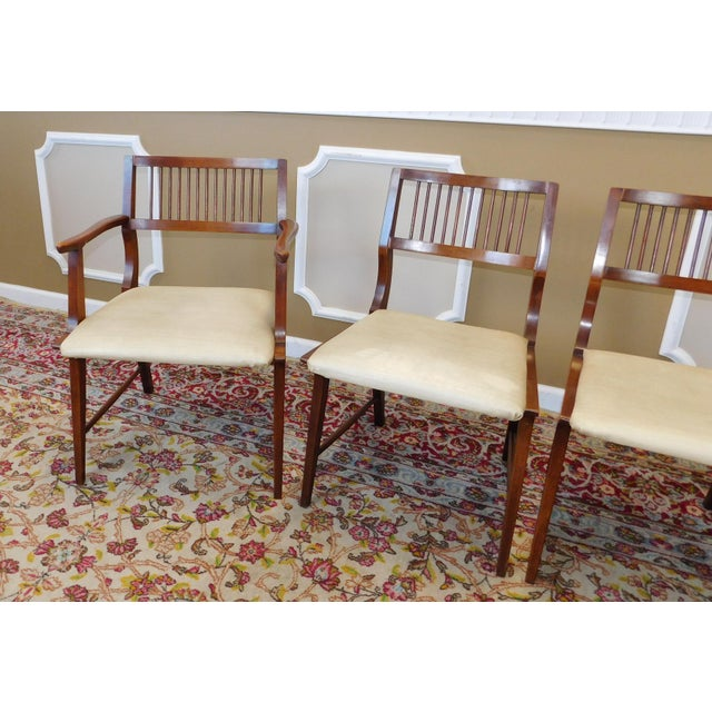 Vintage Lane Furniture Walnut Dining Chairs - Set of 4 - Image 10 of 11