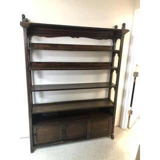 Antique Wood Bookcase Preview