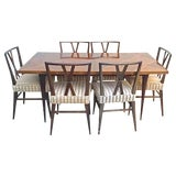 Image of 20th Century Regency Tommi Parzinger Dining Set - 7 Pieces For Sale