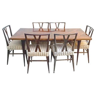 20th Century Regency Tommi Parzinger Dining Set - 7 Pieces For Sale