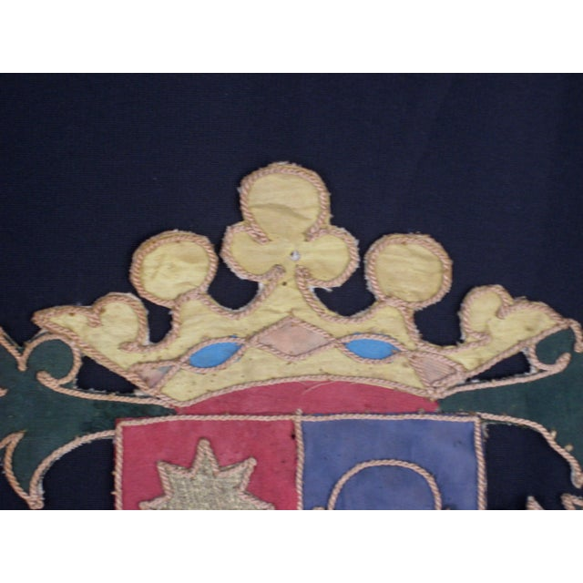 19th Century Italian Marquee Coat of Arms Armorial Embroidery For Sale - Image 6 of 8