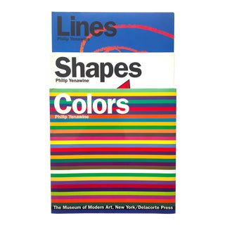 """ Colors, Shapes, Lines "" Rare Vintage 1991 1st Edition Museum of Modern Art Children's Art Books - Set of 3 For Sale"