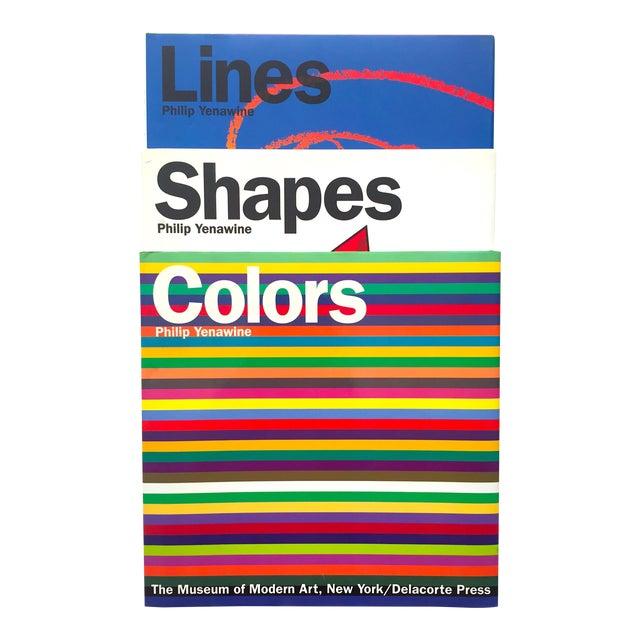 """ Colors, Shapes, Lines "" Rare Vintage 1991 1st Edition Museum of Modern Art Children's Art Books - Set of 3 For Sale"
