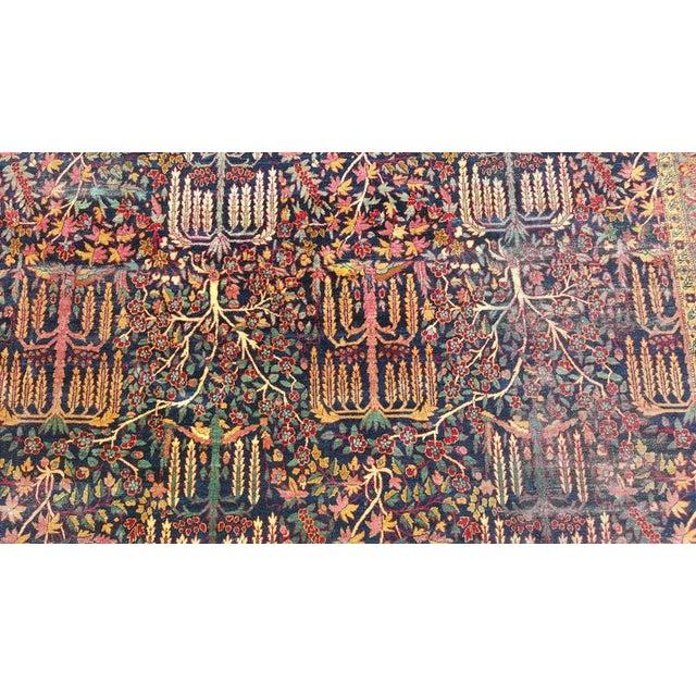 "Distinguished Distressed Large 1930s Persian Kerman ""Tree"