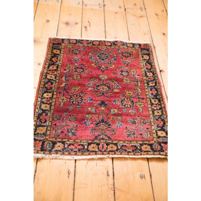 "Vintage Mohajeran Sarouk Rug Mat - 1'11"" X 2'6"" For Sale In New York - Image 6 of 7"
