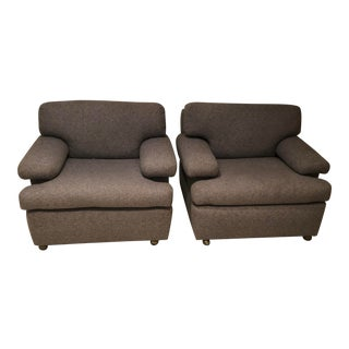 Mid-Century Italian Knoll Club Chairs for Donghia - a Pair For Sale
