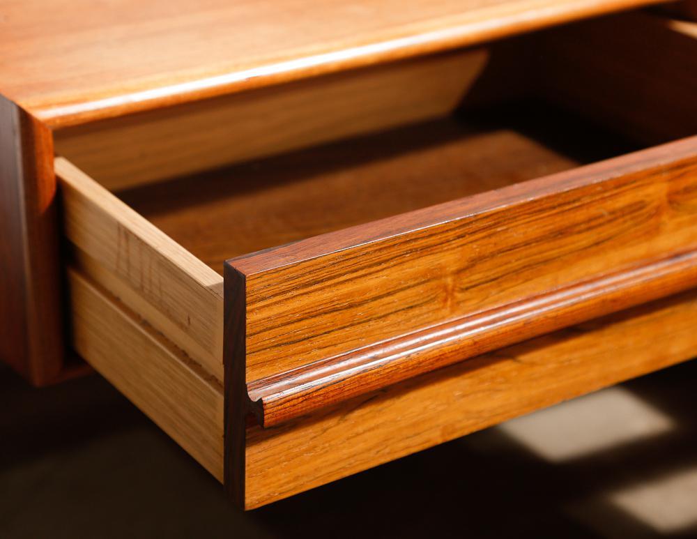 Mid Century Modern Brazilian Rosewood Queen Platform Bed   Image 4 Of 6