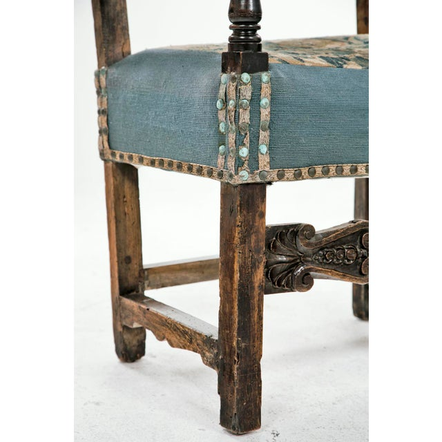 18th Century Italian Walnut Arm Chair For Sale - Image 4 of 6