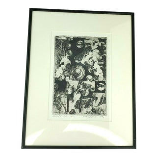 """""""Stones & Spheres"""" Abstract Artist Proof Print by Anthony DiMichele, 1996 For Sale"""