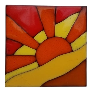 "Italian "" Sima Ceramiche "" Sun Ceramic Tile For Sale"