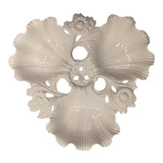 Vintage Whittier Potteries White Ornate Platter