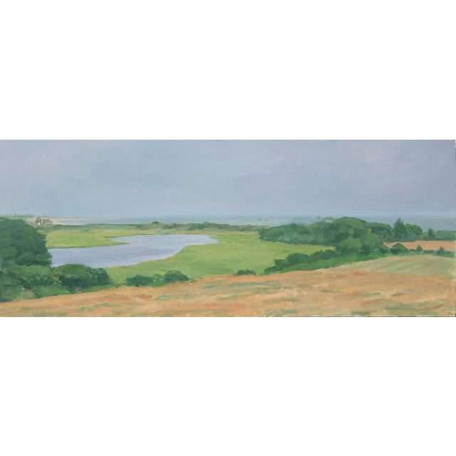 "Modern, ""Allens Pond Slightly Overcast"" Painting by Stephen Remick For Sale"