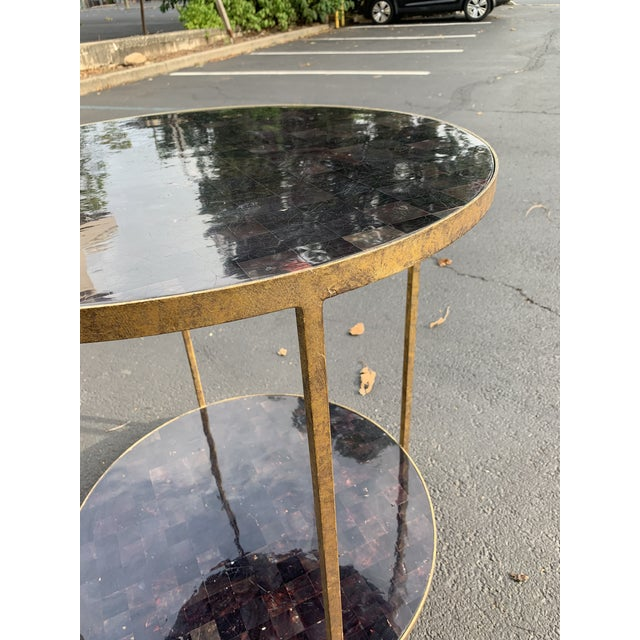 Traditional Oly Studios Jonathan Tortoise Shell Side Table For Sale - Image 3 of 8