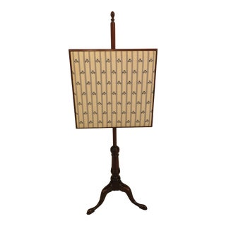 Kittinger Colonial Williamsburg Mahogany Fire Screen For Sale