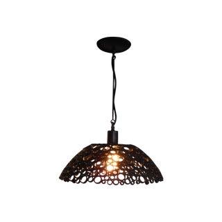Tiffany Steel Pendant Light For Sale