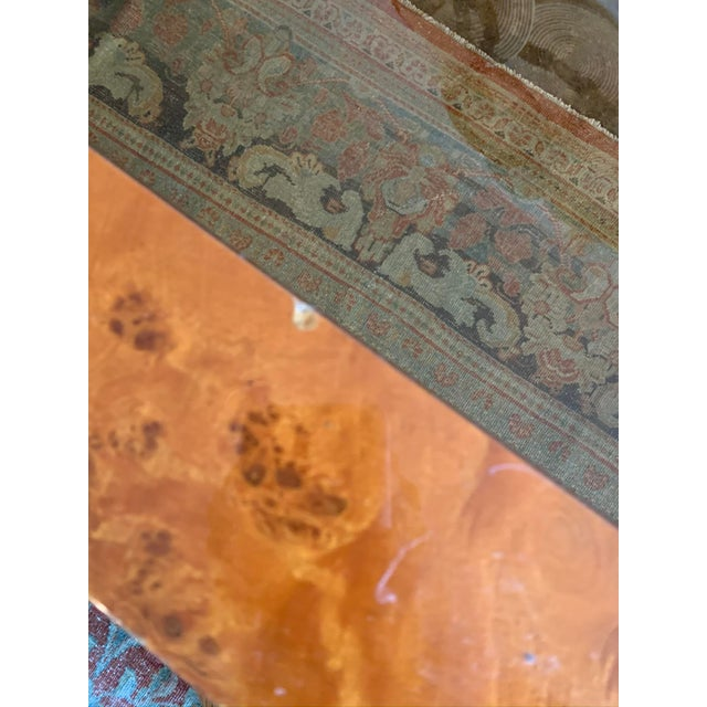 1970s Vintage Burlwood and Glass Dining Table For Sale - Image 11 of 13