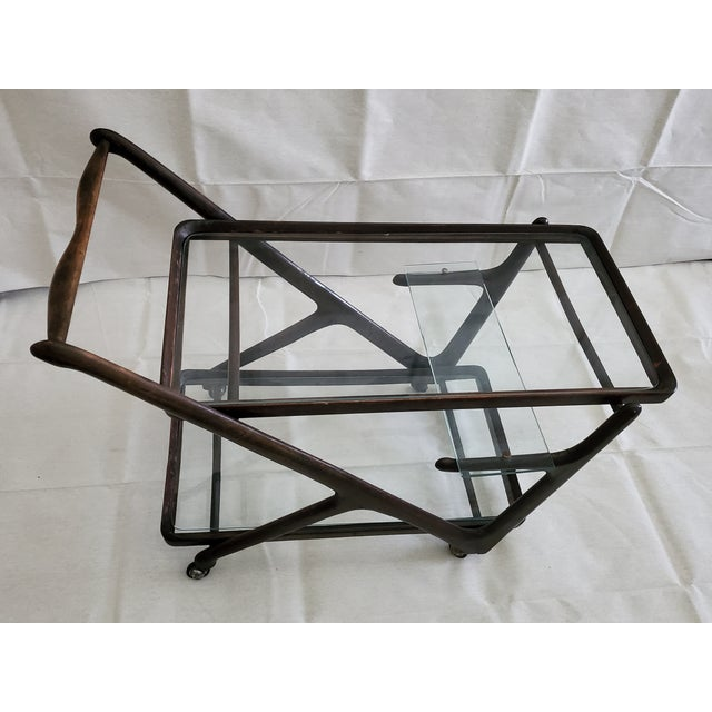 Ico Parisi 1950s Italian Mid-Century Modern Serving Bar Cart - in Manner of Ico Parisi For Sale - Image 4 of 12